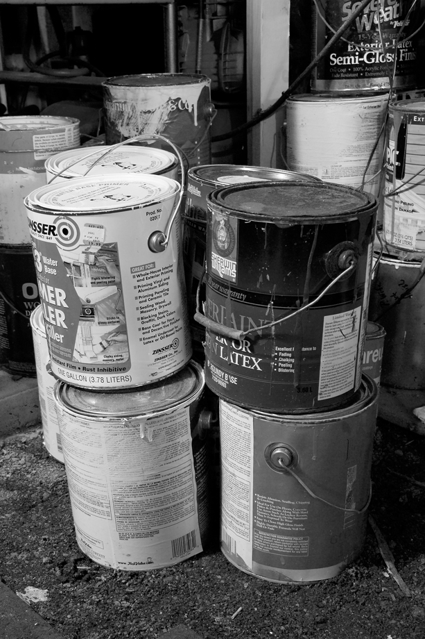 Granville, NY ~ Paint Cans ~ 2005 ~ CP053048 ~ Richard Clayton Photography ~ Cambridge Photo
