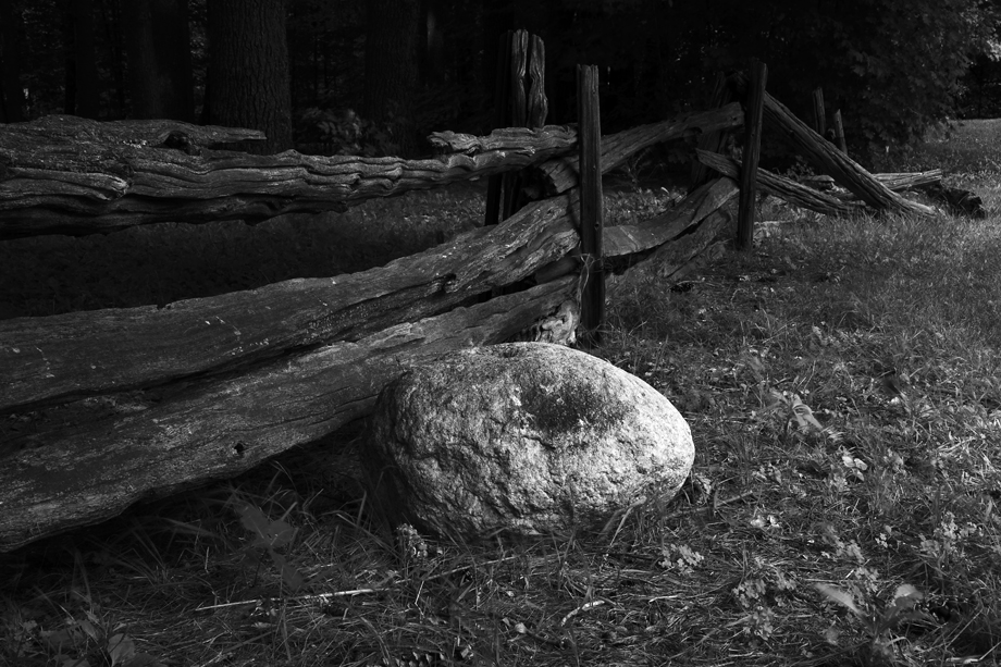 Branburry State Park, VT ~ Fence and Rock ~ 2006 ~ CP063022 ~ Richard Clayton Photography ~ Cambridge Photo