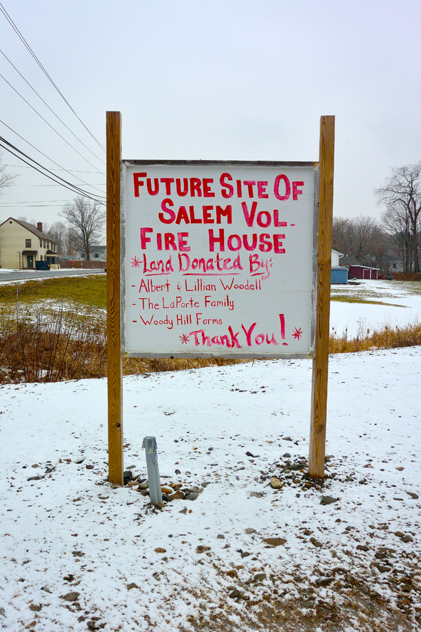 Salem, NY ~ Sign ~ Future Site of Salem Vol. Fire House ~ 2016 ~ CP163002 ~ Richard Clayton Photography ~ Cambridge Photo