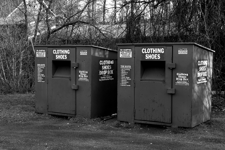 Cambridge, NY ~ Pearl Street ~ Clothing Drop Off Boxes ~ 2016 ~ CP163003 ~ Richard Clayton Photography ~ Cambridge Photo