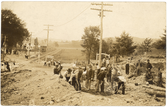 Granville NY, North Street 1900s Photograph - Road Workers  - NYGR0024 - Richard Clayton Photography - Cambridge Photo - Vintage Photographs