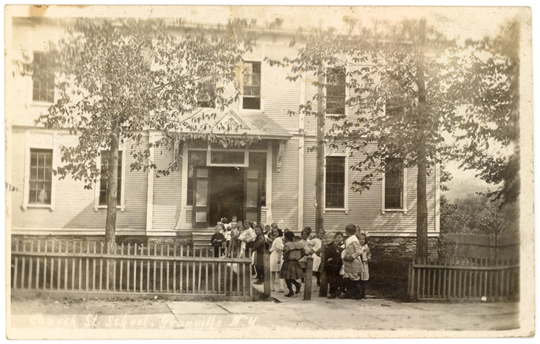 Granville NY, Church Street 1900s Photograph - Church Street School 1909 - NYGR0033 - Richard Clayton Photography - Cambridge Photo - Vintage Photographs