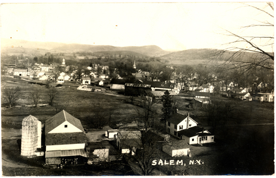 Salem NY, Town View 1930s Photograph - Town View 1939 - NYSA0004 - Richard Clayton Photography - Cambridge Photo - Vintage Photographs