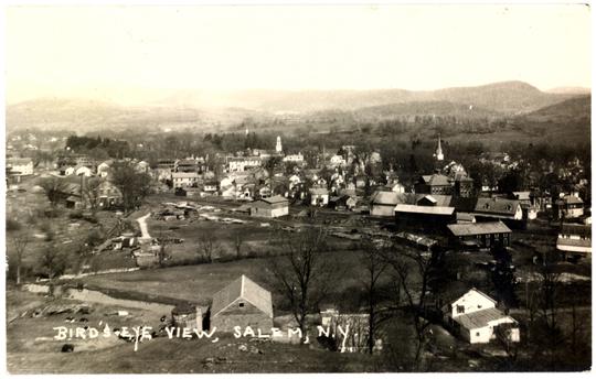 Salem NY, Town View 1930s Photograph - Birds Eye View 1930 - NYSA0005 - Richard Clayton Photography - Cambridge Photo - Vintage Photographs
