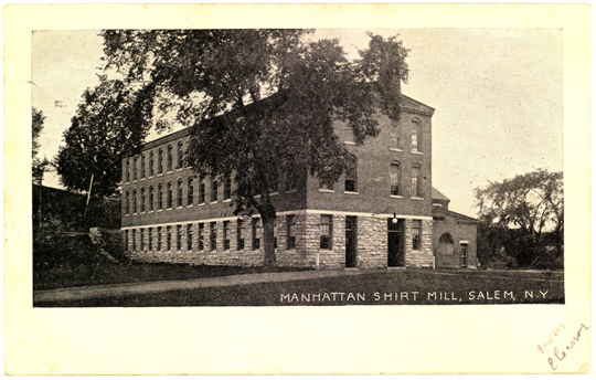 Salem NY, Town View 1910s Photograph - Manhattan Shirt Mill 1906 - NYSA0012 - Richard Clayton Photography - Cambridge Photo - Vintage Photographs
