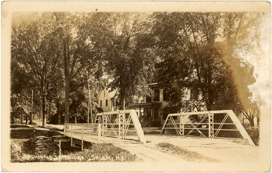 Salem NY, Town View 1920s Photograph - Archibald St. Bridge  - NYSA0036 - Richard Clayton Photography - Cambridge Photo - Vintage Photographs