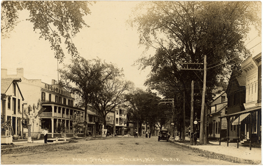 Salem NY, Main Street 1910s Photograph - Main Street 1918 - NYSA0041 - Richard Clayton Photography - Cambridge Photo - Vintage Photographs