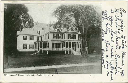 Salem NY, Other 1910s Photograph - Williams Homestead 1910 - NYSA0068 - Richard Clayton Photography - Cambridge Photo - Vintage Photographs